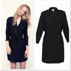 Wilfred Wrap Franca Black Dress Size 2
